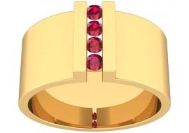 Pierścionek z rubinami 0,12 ct