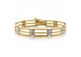 Bransoleta złota - 22 cm