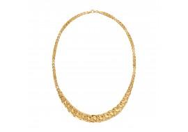 Naszyjnik złoty - łuski